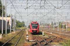 SKMW 35WE-010 , Pruszkw train station 08.07.2016 (szogun000) Tags: pruszkw poland polska railroad railway rail pkp station ezt emu set electric newag 35we 35we010 impuls skmwarszawa train pocig  treno tren trem passenger commuter osobowy s1 d291 d29447 mazowieckie masovian mazowsze masovia canon canoneos550d canonefs18135mmf3556is