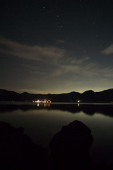 NIght at Motosuko (Big Ben in Japan) Tags: motosuko bigdipper camping lake stars
