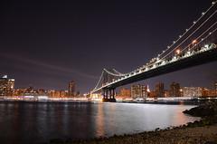 NYC (m.genca) Tags: city nyc bridge panorama usa brooklyn america river landscape us nikon cityscape ponte vista marco scape notte genca d7000 marcogenca