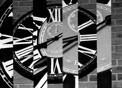 clock (Jackal1) Tags: abstract clock monochrome blackandwhite bw time romannumerals
