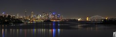 Valculse Panorama (anthonyhueston) Tags: sydneyharbour canon canon350d 350d night sydney nsw australia cityscape citylights city