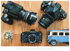 Finally... a LX :) (L.F.Lee) Tags: pentax pentax67 olympus om2n filmcamera fujifilm pentax645n p67ii