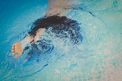 201 - Splash (DanielleDeviated) Tags: swimming pool kid child water splashing blue color fadedcolors 3662016 366project