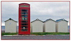 He's always been a show off! (geoff7918) Tags: phonebox beachhuts budleightsalterton
