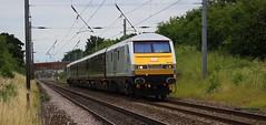 Retford (GBRf 66702) Tags: dbc dbcargouk class67 67029 royaldiamond mk3 coach 11039 mk3coach 10211 10546 dvt82146 dvt 82146 ews dbs causewaylane footcrossing retford eastcoastmainline ecml diesel loco locomotive 125mph 1z06 1536 doncasterrmt londonkingscross speed southbound silver managers managerstrain companytrain canon eos 100d dslr flickr rail railway british britishrailways britishrail uk england 2016 notts nottinghamshire interesting inexplore train trains signals mustsee art artistic fashion telephoto telephototrains explore