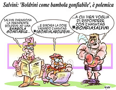 Bamboloccione (Moise-Creativo Galattico) Tags: editoriali moise moiseditoriali editorialiafumetti giornalismo attualit satira vignette salvini boldrini