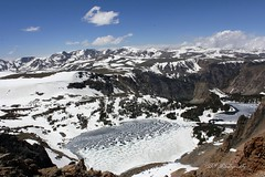 Thawing Time (woodysmith4341) Tags: winter spring snow mountains montana redlodge frozen lake beartooth pass sky blue