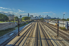 Chicago IL 8.6.2016 (MBA-Photography) Tags: chicago skyline silhouette searstower bronzeville train traintracks highrises skyscrapers travel illinois windycity perfect