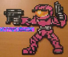 Halo Spartan (PixelatedProductions) Tags: halo masterchief spartan hamabeads perlerbeads