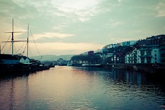 Sitting on the dock of the bay (The Green Album) Tags: houses sunset reflection docks bristol boats harbour ships calm mast