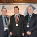 Showtel Danny O'Sullivan and Bernard Flynn, Spring Grove and Stephen McNally, IHF President