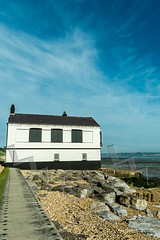 Lepe Watch House (Paul Chambers Photography) Tags: uk blue sunset sea vacation england sky house holiday building tourism beach water horizontal walking relax landscape outdoors photography coast landscapes countryside seaside holidays rocks seascapes outdoor walk horizon country shoreline relaxing rocky sunsets visit hampshire tourist calm coastal shore edge solent waters coastline leisure activity relaxation visitor newforest customs lepe relaxes holidayhome traveldestinations watchhouse ddaylandings colourimage paulchambers