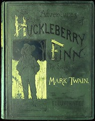 """""""Adventures of Huckleberry Finn"""" by Mark Twain. NY: Charles L. Webster & Co., 1885. First U.S, edition. Illustrations by E. W. Kemble (lhboudreau) Tags: book books webster marktwain bookart 1885 hardcover samuelclemens huckfinn kemble firstedition vintagebook huckleberryfinn hardcovers classicfiction charleswebster hardcoverbooks hardcoverbook adventuresofhuckleberryfinn classicstory charleslwebster classictale tomsawyerscomrade ewkemble firstamericanedition firstusedition charleslwebsterco charleslwebsterandcompany"""