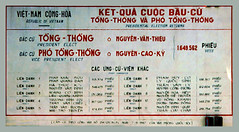 Kết quả cuộc bầu cử Tổng Thống và Phó TT ngày 3-9-1967 - PRESIDENTIAL ELECTION RETURNS (manhhai) Tags: waite vietnam 1967 saigon bienhoa macv advisoryteam98 ductu