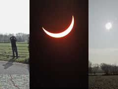 partial solar eclipse (DigitalLyte) Tags: uk england sky sun moon collage solar eclipse triptych somerset