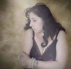 My mood flips from happiness to thoughts of him that swirl around in my memories which causes me sorrow. I wish he was here. (SassyCat2010) Tags: moody longhair brunette emotional cleavage selfprotrait olderwomen