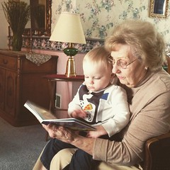 "Paul Reads with Grandma Shirley • <a style=""font-size:0.8em;"" href=""http://www.flickr.com/photos/109120354@N07/16946626676/"" target=""_blank"">View on Flickr</a>"