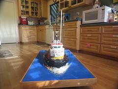 Crowley Maritime Tugboat (2015 Drydock (004)  (Before)) (origamiguy1971) Tags: lego charles cleaning maritime tugboat drydock adrienne upgrade crowley moc esseltine origamiguy origamiguy1971