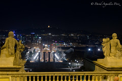 Barcelona desde Montjuic (David Arguelles Pérez) Tags: barcelona españa night lights luces noche sony ciudad estatuas castillo montjuic 2012