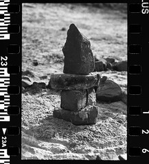 Stonehenge (E-Studios (WWW.E-STUDIOS.EU)) Tags: park trees winter plants lake snow cold holland tree film ice nature water netherlands grass creek 35mm nijmegen river puddle prime crystals day minolta bokeh 14 85mm 7 ishootfilm iso mc prototype seven 17 plus leafs fp 58mm 85 ilford fp4 dull streaming buffer pf 125 waal fp4plus ilce rokkor xe5 rokkorpf nymegen filmfeed ilce7