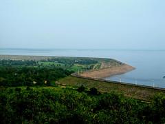 Curve (debabrata.das96) Tags: blue india lake water dam curve westbengal bankura mukutmonipur