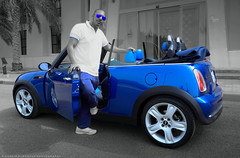 MINI Time (khalid almasoud) Tags: auto blue color car sport funny flickr photographer tour time sony mini cooper estrellas area kuwait khalid selective 2015    almasoud     a5100 sonya5100 ilce5100
