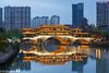 Anshun Bridge (Chengdu) (renan4) Tags: china city trip travel light sky night buildings river temple nikon asia towers chengdu nikkor renan d800 gicquel renan4 anshunbridge