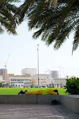 Taking a Rest (micheltheriault) Tags: hardhat worker resting doha quatar
