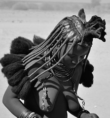 Himba (silviasalvi) Tags: africa namibia nature himba africanpeople bw monochrome portrait streetportrait youngwoman