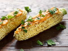Summer Corn (Bitter-Sweet-) Tags: vegan food savory healthy aquafaba mayo mayonnaise spread ingredient creamy chickpeas beans legumes pulses product review sirkensington fabanaise corn cob herbs cilantro grilled charred fresh simple summer seasonal chipotle spicy