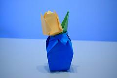 Tulip (AG-Wolf) Tags: tulip tulipn flor flower origami papiroflexia figura figure artificial plant planta blue orange