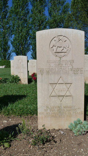 Monte Cassino - the Commonwealth War Cemetery, jewish grave