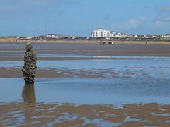 DSCF0734 (SierPinskiA) Tags: sea shells beach liverpool sand ironman pools barnacles ironwork mayday seashore merseyside anthonygormley irishsea 2016 anotherplace crosbybeach blundellsands fujixs1