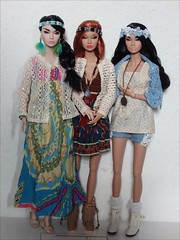 Hippie Girls 01 (jasminalexandra) Tags: integrity poppy parker bonjour springtime boutique boho hippie fashion