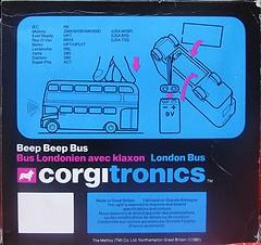 Beep Beep Bus (streamer020nl) Tags: greatbritain bus london toys corgi model beep gb 1981 claxon horn electronic doubledecker diecast jouets klaxon hupe spielwaren mettoy corgitronics