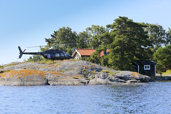 Take the helicopter to your summer cottage in the archipelago. (Anders Sellin) Tags: 2016 helikopter sverige sweden archipelago baltic helicopter sea sommar stockholm summer runmar skrgrd stersjn