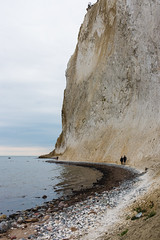 Mns Klint (emilhallengren) Tags: cliff cloudy denmark hiking human mnsklint mnsklint naturereserve ocean rocks sea shore steep water borre vordingborgmunicipality dk