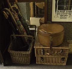 Hatbox (Libby Hall Dog Photo) Tags: luggage hatbox leatherluggage