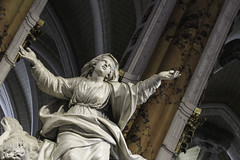 Our Lady being Assumed into Heaven (Lawrence OP) Tags: assumption blessedvirginmary ourlady chartres cathedral france sculpture charlesantoinebridan