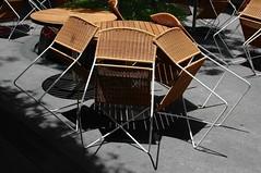 Not Serving (jcbkk1956) Tags: tables chairs bar closed shadow shade nikon d70s bangkok thailand thonglo nikkor nikkorafs35mmf18 wood cane explored