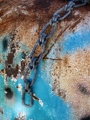 (shadowplay) Tags: metal chain corrosion rust oxidation junkyard composition abstract