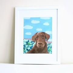 lab retriever portrait (Ezartesa) Tags: lab chocolatelabrador labretriever dogportrait dogpainting petwatercolor ezartesa