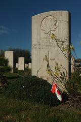 Cimitero militare Canadese di Ortona 008 (Emiliano D' Astolto) Tags: cimitero militare canadese military canadian cemetary bandiera flag prato green rosa rose lapide lapid ortona italia italy fiore flower verde