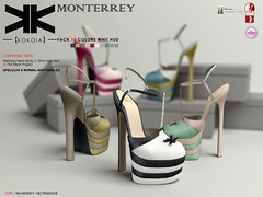 Monterrey :: Shoes :: 10 Colors ({kokoia}) Tags: monterrey kokoia shoes slink secondlfie sl high heels platform mesh maitreya tmp themeshproject woman