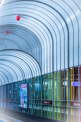 Red Balloon (*Capture the Moment*) Tags: 2015 architecture architektur dynamic dynamik farbdominanz highkey huserwohnungen innenarchitektur insightview interiordesign munich mnchen stationdlferstrasse subway ubahn blau blue red rot