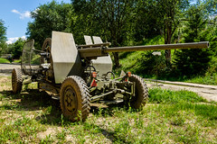 57 mm PLK CZ anti-aircraft gun (The Adventurous Eye) Tags: 57 mm plk cz antiaircraft gun museum demarkation line rokycany muzeum na demarkan linii military army ww2