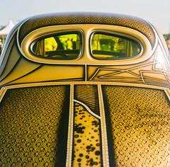 Glam gasser (GmanViz) Tags: gmanviz color car automobile detail goodguysppgnationals 1941 willys gasser roof rear window decklid airbrush lace film analog 120 6x6 mediumformat hasselblad 500cm zeissplanar80mmf28 fujifilm reala