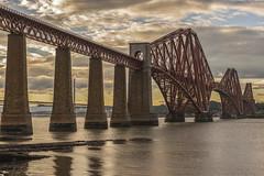 Forth Bridge Sunset (Colin Myers Photography) Tags: forth bridge sunset forthbridge forthbridgesunset forthrailbridge rail railway firth sunny queensferry scotland scottish edinburgh wwwcolinmyerscom colinmyersphotography