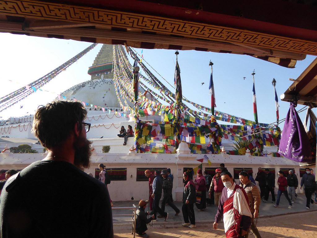 André at Boudhanath Stupa