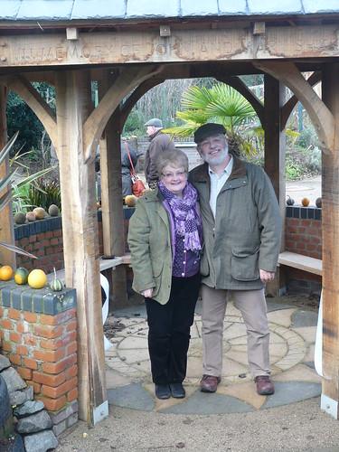 Jan 14 Steve & Carol open the roundhouse